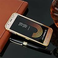 Чехол для Galaxy J3 2017 / Samsung J330 зеркальный золотистый, фото 2