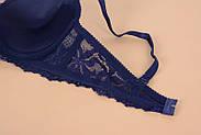 Комплект нижнего белья 80B (36B) blue, push up, набор женского белья с пуш ап, фото 6