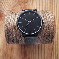 Женские часы Classic steel watch черные, жіночий наручний годинник, часы с металлическим ремешком