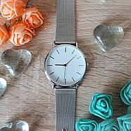 Женские часы Classic steel watch серебряные, жіночий наручний годинник, с металлическим ремешком, фото 3