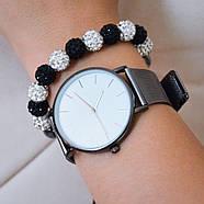 Женские часы Classic steel watch черные, жіночик годинник, женские часы с металлическим ремешком, фото 3