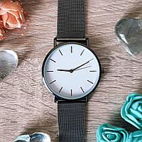 Женские часы Classic steel watch черные, жіночик годинник, женские часы с металлическим ремешком