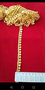 Тесьма шарики 9 метров. Кружево для пошива и декора. Цвет жёлтый