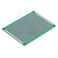 Монтажна макетна плата PCB 40х60мм, крок 2.54 мм, двосторонній