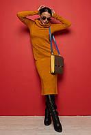Уютное трикотажное теплое платье миди Arktika (42–52р) в расцветках