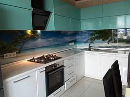кухонный фартук на обычном стекле толщиной 6 мм с фотопечатью
