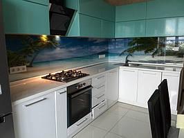 """Кухонный фартук с фотопечатью """"Пальмы на фоне океана"""" 9"""