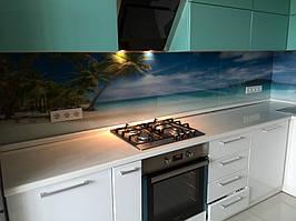 """Кухонный фартук с фотопечатью """"Пальмы на фоне океана"""" 10"""