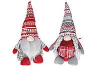Мягкая новогодняя игрушка Гном, 2 вида, 49см, цвет - красный