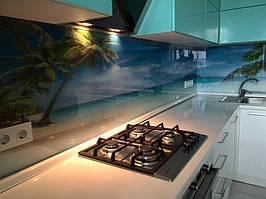 """Кухонный фартук с фотопечатью """"Пальмы на фоне океана"""" 11"""