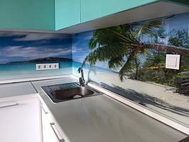 """Кухонный фартук с фотопечатью """"Пальмы на фоне океана"""" 12"""