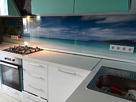 """Кухонный фартук с фотопечатью """"Пальмы на фоне океана"""" 13"""