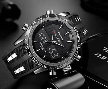 Мужские часы Readeel черные с белым,Чоловічий наручний годинник