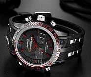 Мужские часы Readeel черные с красным, Чоловічий годинник, фото 2