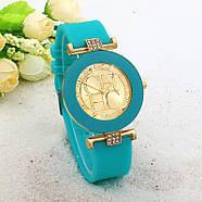 Женские часы CHHC бирюзовые с золотым, фото 2