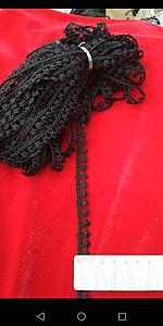 Тесьма шарики 9 метров. Для пошива и декора. Цвет чёрный