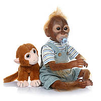 Обезьянка реборн мальчик, кукла реборн обезьянка