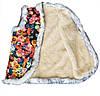Жилетка из овчины с опушкой Цветочная Размер 48, фото 2
