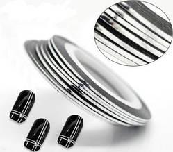 Лента для дизайна ногтей (серебряная)