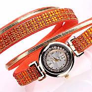 Женские часы браслет с оранжевым браслетом, фото 2