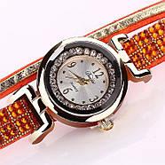 Женские часы браслет с оранжевым браслетом, фото 3