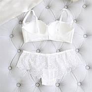 Комплект нижнего белья 75B (34B) white, набор женского белья, фото 3