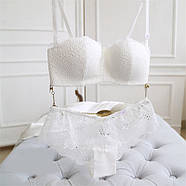 Комплект нижнего белья 75B (34B) white, набор женского белья, фото 4