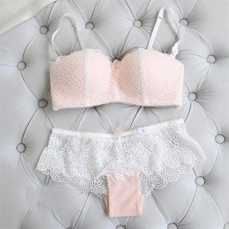 Комплект нижнего белья 75B (34B) pink, набор женского белья