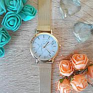 Женские часы Classic под мрамор золотые, жіночий наручний годинник з мраморним циферблатом, фото 4