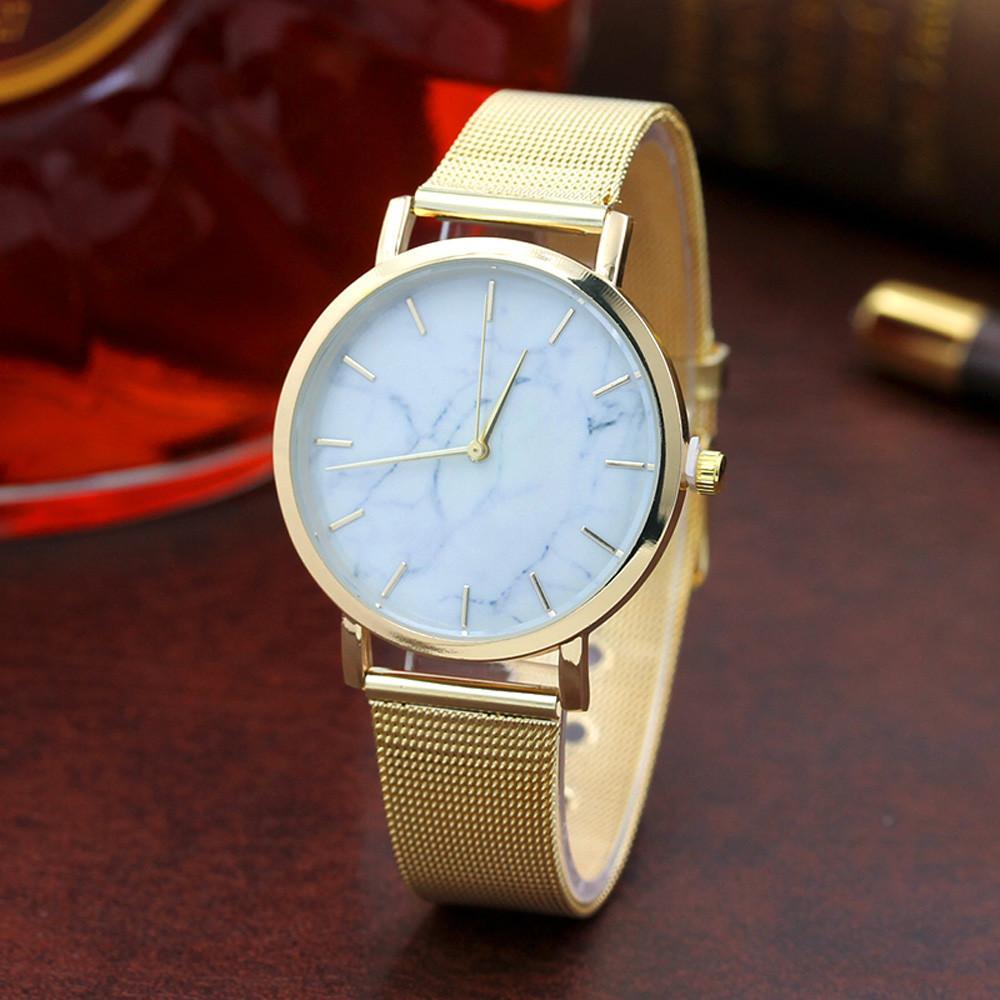 Женские часы Classic под мрамор золотые, жіночий наручний годинник з мраморним циферблатом