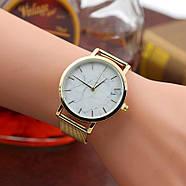 Женские часы Classic под мрамор золотые, жіночий наручний годинник з мраморним циферблатом, фото 5