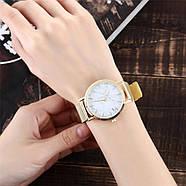 Женские часы Classic под мрамор золотые, жіночий наручний годинник з мраморним циферблатом, фото 6
