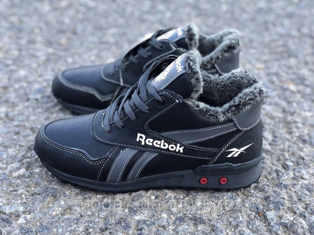 Кожаные женские-подростковые ботинки Reebok реплика