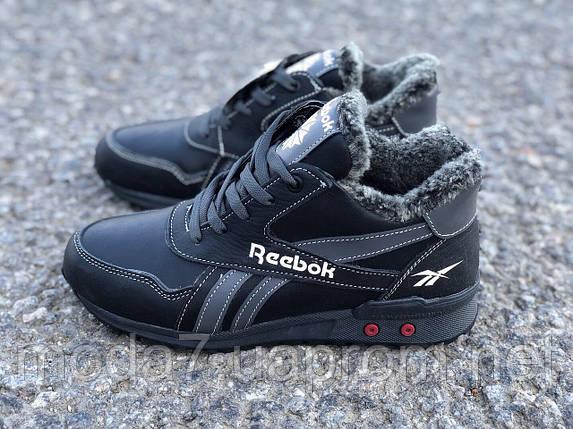 Кожаные женские-подростковые ботинки Reebok реплика, фото 2