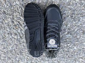 Кожаные женские-подростковые ботинки Reebok реплика, фото 3
