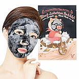 Кислородная маска-серум для лица от черных точек Elizavecca Witch Piggy Hell Pore Black Solution Bubble Serum, фото 3