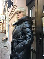 Женский зимний пуховик пальто одеяло тёплый длинный с капюшоном