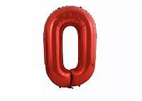 "Цифра слим красная ""0"" 40""(100см)"
