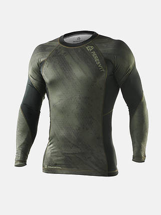 Рашгард Peresvit Immortal 2.0 Military Green Long Sleeve Rash Guard, фото 2