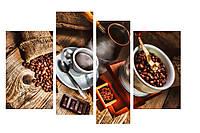 Модульная картина Декор Карпаты 110х70 см Кофе (M4-15)