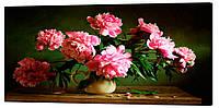 Картина на холсте Декор Карпаты Цветы в вазе 50х100 см (c781)
