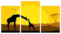 Модульная картина Декор Карпаты 100х53 см Жирафы (M3-z449)