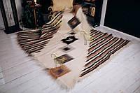 Лижник Карпатский плед Зебра 200х220 из шерсти