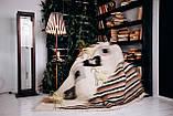 Лижник Карпатский плед Зебра 200х220 из шерсти, фото 2