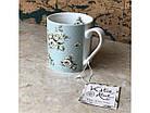 Чашка з квітами керамічна зелена, фото 3