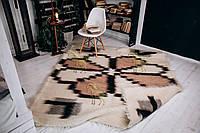 Лижник Карпатский плед из овечьей шерсти ЦВЕТОК 200х220 см