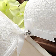 Комплект нижнего белья 75C (34C) white, push up, набор женского белья с пуш ап, фото 3