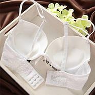 Комплект нижнего белья 80B (36B) white, push up, набор женского белья с пуш ап, фото 4