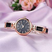 Жіночі годинники Lupai rose gold з чорним, жіночий наручний годинник, жіночий наручний годинник на браслеті