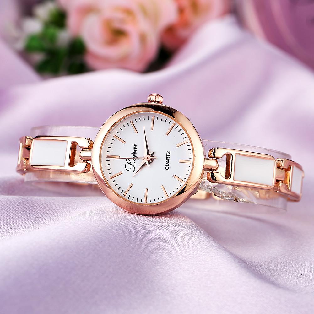 Женские часы Lupai rose gold с белым, жіночий годинник, женские наручные часы на браслете